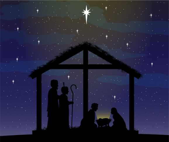 Free Clip Art: Christmas Manger Scene - Ministry Resources / KJV.com
