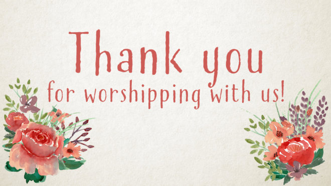 Example of downloadable Thank you slide for Mother's Day worship service.
